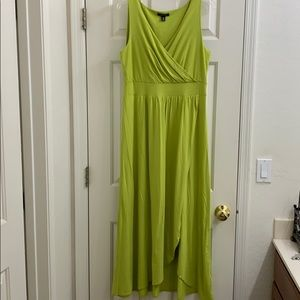 🦋 Lands End Chartreuse maxi dress Med
